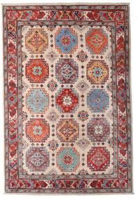 Kazak Rug 123X181 Authentic  Oriental Handknotted Dark Red/Dark Brown/Light Pink (Wool, Afghanistan)