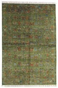 Sharbargan Rug 168X249 Authentic  Modern Handknotted Olive Green/Dark Green (Wool, Afghanistan)