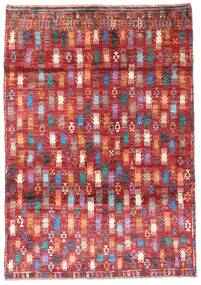 Moroccan Berber - Afghanistan Rug 115X169 Authentic  Modern Handknotted Dark Red/Rust Red (Wool, Afghanistan)