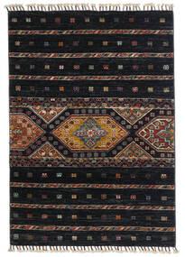 Shabargan Rug 87X124 Authentic  Modern Handknotted Black/Dark Grey (Wool, Afghanistan)
