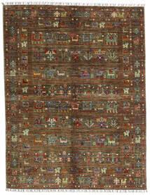 Shabargan .L Rug 156X201 Authentic  Modern Handknotted Dark Brown/Brown (Wool, Afghanistan)