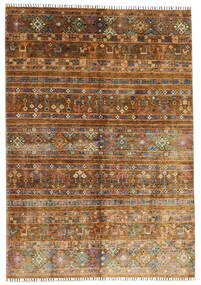 Shabargan Rug 169X242 Authentic  Modern Handknotted Brown/Dark Brown (Wool, Afghanistan)