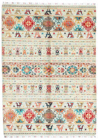 Sharbargan Rug 173X238 Authentic  Modern Handknotted Beige (Wool, Afghanistan)
