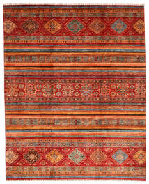 Shabargan Rug 249X310 Authentic  Modern Handknotted Dark Red/Rust Red (Wool, Afghanistan)