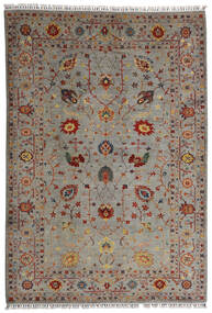 Shabargan Rug 208X304 Authentic Modern Handknotted Light Grey/Light Brown (Wool, Afghanistan)