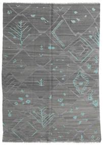 Kilim Modern Rug 168X239 Authentic  Modern Handwoven Dark Grey/Dark Green (Wool, Afghanistan)
