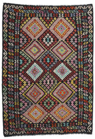 Kilim Modern Rug 176X244 Authentic  Modern Handwoven Black/Dark Red (Wool, Afghanistan)