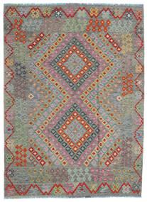 Kilim Afghan Old Style Rug 170X234 Authentic  Oriental Handwoven Dark Grey/Light Brown (Wool, Afghanistan)