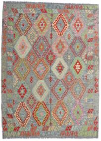 Kilim Afghan Old Style Rug 171X233 Authentic  Oriental Handwoven Dark Grey/Light Grey (Wool, Afghanistan)