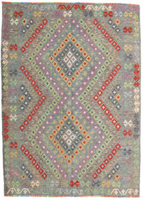 Kilim Afghan Old Style Rug 174X241 Authentic  Oriental Handwoven Light Grey/Dark Grey (Wool, Afghanistan)