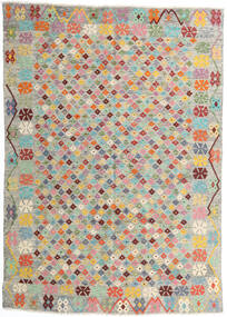 Kilim Afghan Old Style Rug 165X232 Authentic  Oriental Handwoven Light Grey/Light Pink (Wool, Afghanistan)