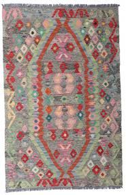 Kilim Afghan Old Style Rug 96X149 Authentic  Oriental Handwoven Light Grey/Dark Grey (Wool, Afghanistan)