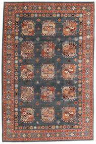 Kazak Rug 195X296 Authentic  Oriental Handknotted Dark Grey/Dark Red (Wool, Afghanistan)
