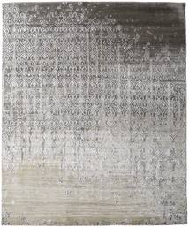 Damask Collection Rug 248X303 Authentic  Modern Handknotted Light Grey/Dark Grey ( India)