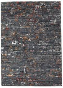Damask Collection Rug 162X229 Authentic  Modern Handknotted Dark Grey/Light Grey ( India)