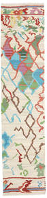 Kilim Modern Rug 70X304 Authentic  Modern Handwoven Hallway Runner  Beige/White/Creme (Wool, Afghanistan)