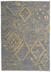 Kilim Ariana Rug 200X284 Authentic  Modern Handwoven Light Blue/Dark Grey/Light Grey (Wool, Afghanistan)