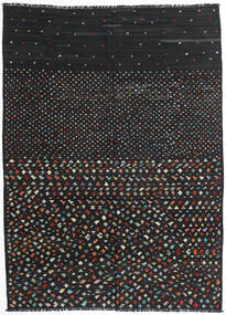 Kilim Modern Rug 206X277 Authentic  Modern Handwoven Black (Wool, Afghanistan)