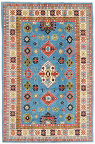 Kazak Rug 208X315 Authentic  Oriental Handknotted Turquoise Blue/Beige (Wool, Afghanistan)