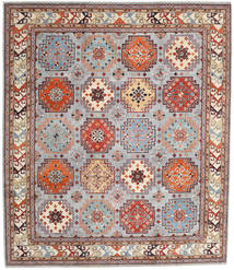 Kazak Rug 255X295 Authentic  Oriental Handknotted Light Grey/Light Brown Large (Wool, Afghanistan)