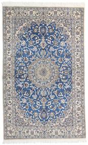 Nain 9La Rug 124X200 Authentic  Oriental Handknotted Light Grey/Dark Grey (Wool/Silk, Persia/Iran)