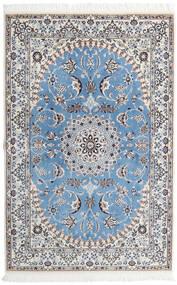 Nain 9La Rug 135X206 Authentic  Oriental Handknotted Light Grey/Light Blue (Wool/Silk, Persia/Iran)