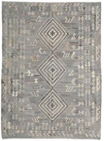 Kilim Ariana Rug 216X285 Authentic  Modern Handwoven Light Grey/Dark Grey (Wool, Afghanistan)