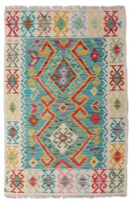 Kilim Afghan Old Style Rug 82X124 Authentic  Oriental Handwoven Light Grey/Turquoise Blue (Wool, Afghanistan)