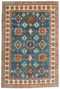 Kazak Rug 198X301 Authentic  Oriental Handknotted Dark Blue/Dark Beige (Wool, Afghanistan)