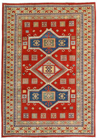 Kazak Rug 203X289 Authentic Oriental Handknotted Rust Red/Dark Grey (Wool, Afghanistan)