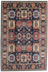 Kazak Rug 199X293 Authentic Oriental Handknotted Dark Blue/Dark Grey (Wool, Afghanistan)