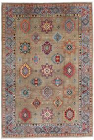 Kazak Rug 202X297 Authentic  Oriental Handknotted Light Grey/Dark Grey/Light Brown (Wool, Afghanistan)