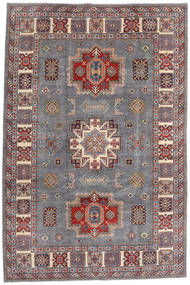 Kazak Rug 195X292 Authentic Oriental Handknotted Light Grey/Dark Red (Wool, Afghanistan)