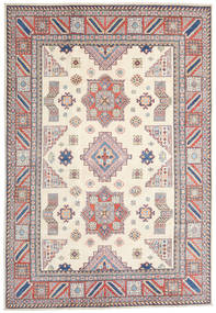 Kazak Rug 211X306 Authentic  Oriental Handknotted Beige/Light Grey (Wool, Afghanistan)