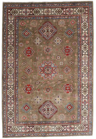 Kazak Rug 197X287 Authentic  Oriental Handknotted Light Grey/Dark Red (Wool, Afghanistan)