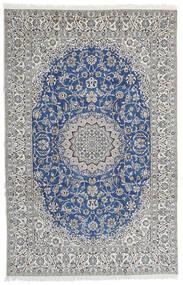 Nain 9La Rug 202X312 Authentic  Oriental Handknotted Light Grey (Wool/Silk, Persia/Iran)