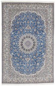 Nain 9La Rug 208X316 Authentic  Oriental Handknotted Light Grey/Blue (Wool/Silk, Persia/Iran)