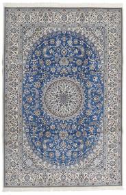 Nain 9La Rug 206X307 Authentic  Oriental Handknotted Light Grey/Dark Grey (Wool/Silk, Persia/Iran)