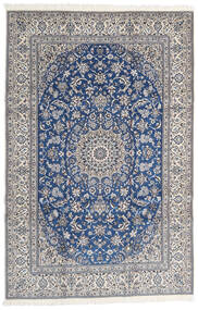 Nain 9La Rug 203X310 Authentic  Oriental Handknotted Light Grey/Dark Grey (Wool/Silk, Persia/Iran)