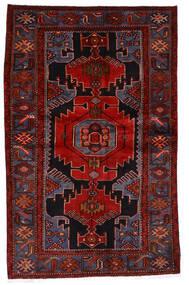 Hamadan Rug 133X209 Authentic  Oriental Handknotted Dark Red/Rust Red (Wool, Persia/Iran)