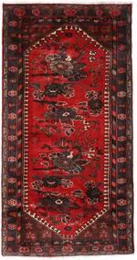 Hamadan Rug 102X193 Authentic Oriental Handknotted Dark Red/Dark Brown (Wool, Persia/Iran)