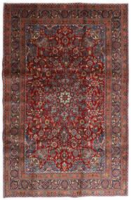 Mashad Rug 198X301 Authentic  Oriental Handknotted Dark Red/Dark Grey (Wool, Persia/Iran)