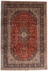 Keshan Rug 246X357 Authentic  Oriental Handknotted Dark Brown/Dark Red (Wool, Persia/Iran)