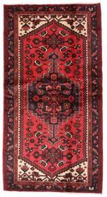 Hamadan Rug 101X192 Authentic Oriental Handknotted Dark Red/Rust Red (Wool, Persia/Iran)