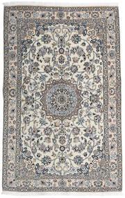 Nain 9La Rug 136X217 Authentic  Oriental Handknotted Light Grey/Dark Grey (Wool/Silk, Persia/Iran)