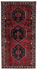 Hamadan Rug 94X187 Authentic Oriental Handknotted Dark Red (Wool, Persia/Iran)