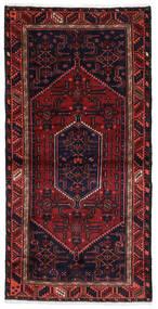 Hamadan Rug 100X201 Authentic Oriental Handknotted Dark Purple/Dark Red (Wool, Persia/Iran)