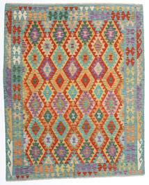 Kilim Afghan Old Style Rug 162X198 Authentic  Oriental Handwoven Beige/Turquoise Blue (Wool, Afghanistan)