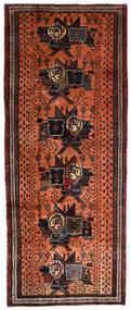 Afshar Rug 107X265 Authentic Oriental Handknotted Hallway Runner Dark Brown/Crimson Red (Wool, Persia/Iran)