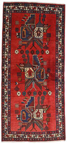 Afshar Rug 84X230 Authentic Oriental Handknotted Hallway Runner Dark Brown/Rust Red (Wool, Persia/Iran)
